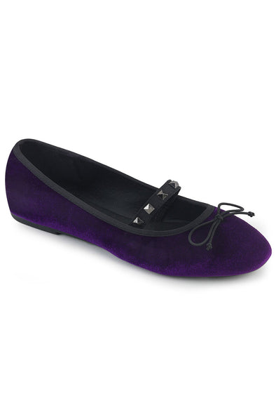 Pagan Purple DRAC-07 Flats [Purple Velvet]