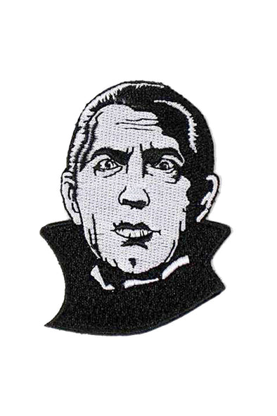 Rock Rebel Dracula Head Patch 3""