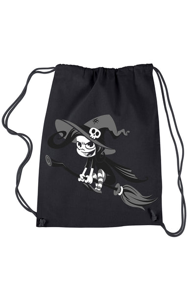 VampireFreaks Crazy Witch Drawstring Backpack - Vampirefreaks Store