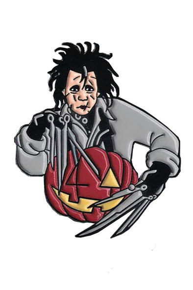 Edward Scissorhands Pumpkin Pin - Vampirefreaks Store