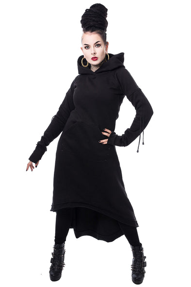 Heartless Elettra Hoodie Dress - Vampirefreaks Store
