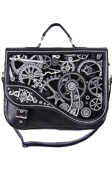 Restyle Steampunk Black Mechanism Messenger Bag - Vampirefreaks Store
