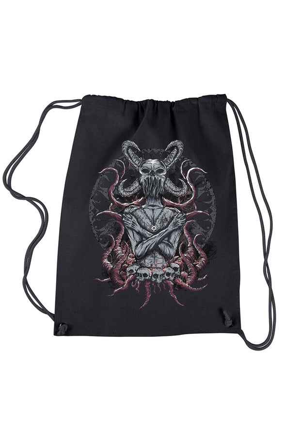 Destrukture Evil Demon Drawstring Backpack - Vampirefreaks Store