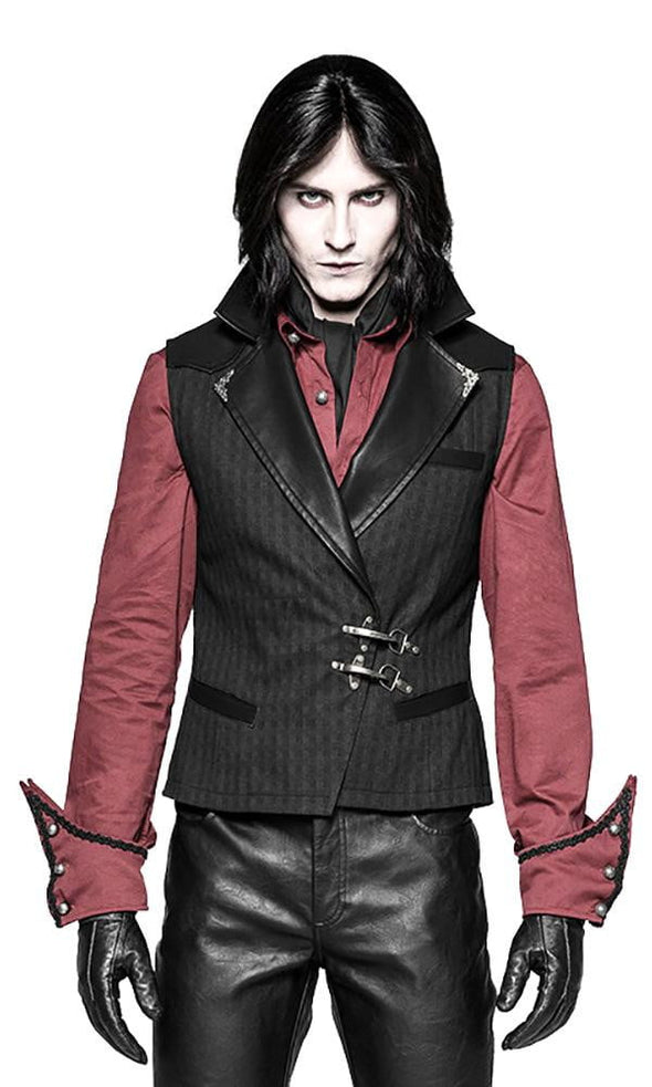 Punk Rave Steampunk Leather Collar Vest - Vampirefreaks Store