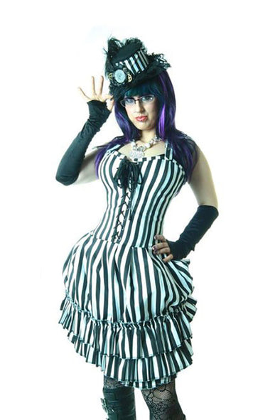 Hilarys Vanity Beetlejuice Striped Lolita Dress