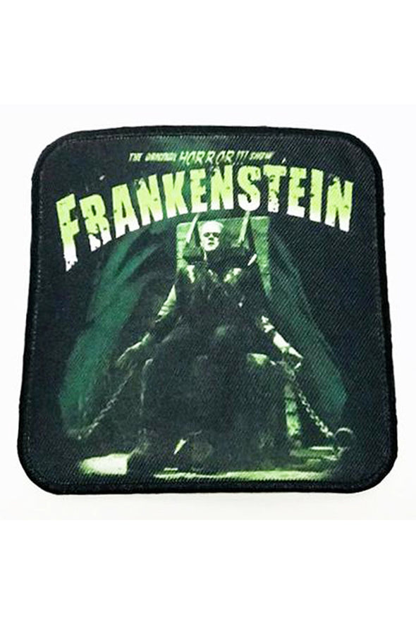 Rock Rebel Frankenstein Electric Chair Square Patch - Vampirefreaks Store