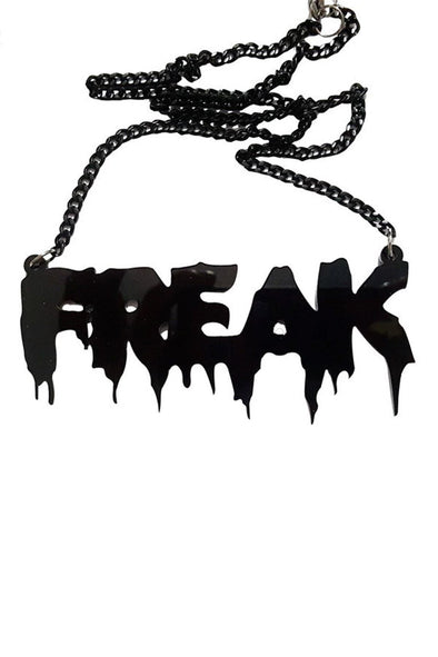 FREAK - Acrylic Necklace - Vampirefreaks Store