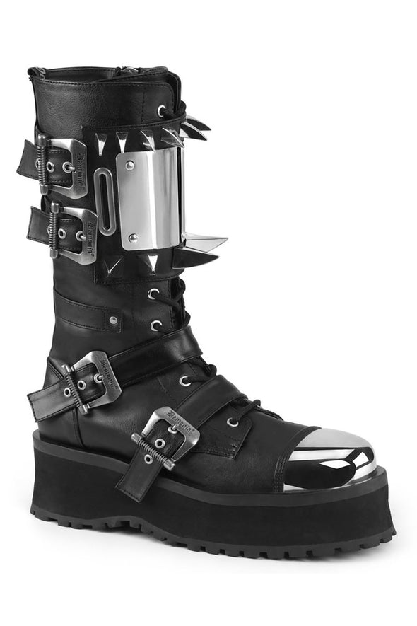 GRAVEDIGGER-250 Boots [Black Vegan Leather]