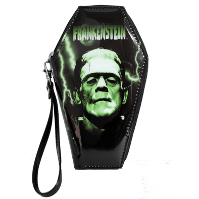 "Rock Rebel ""Green Frankenstein"" Coffin Wallet"