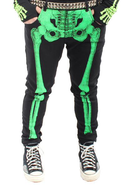 Skeleton Jeans [Green Bone]