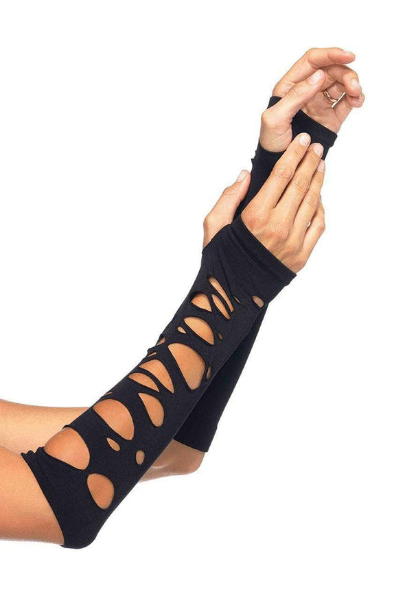 Leg Avenue Distressed Arm Warmers - Vampirefreaks Store
