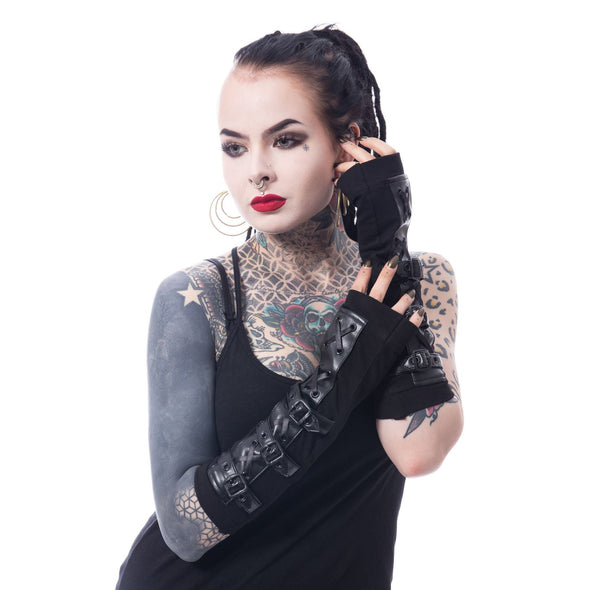 Poizen Industries Lethal Armwarmers - Vampirefreaks Store