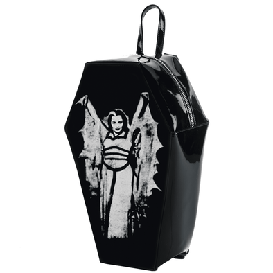 "Rock Rebel ""Lily Munster"" Coffin Backpack - Vampirefreaks Store"