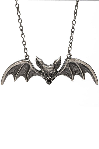 Lily Munster Bat Pendant Chrome - Vampirefreaks Store