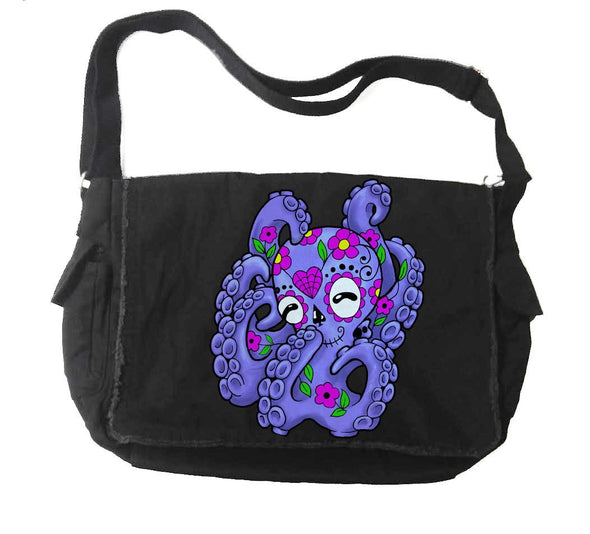 Destrukture Sugar Skull Octopus Messenger Bag