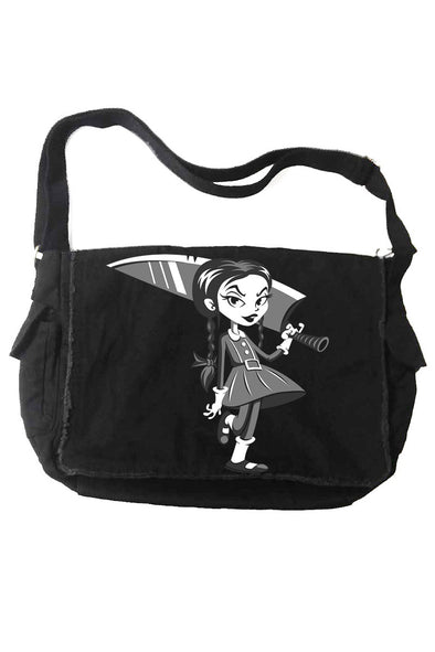 VampireFreaks Wednesday Hates Everything Messenger Bag - Vampirefreaks Store