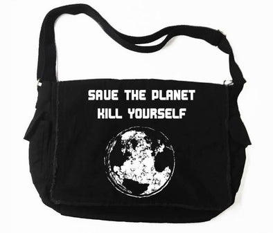 Destrukture Save The Planet Messenger Bag - Vampirefreaks Store