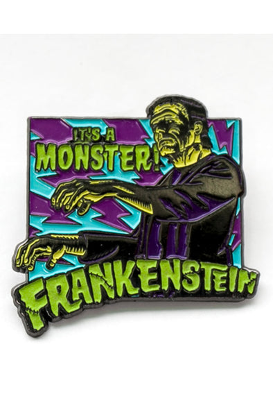 Rock Rebel It's A Monster Frankenstein Enamel Pin - Vampirefreaks Store