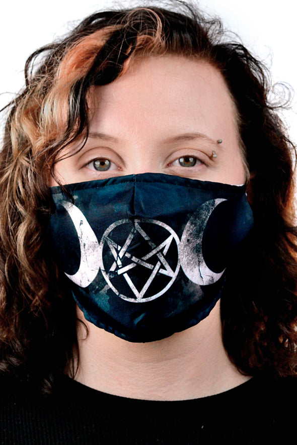 Moon Goddess Unicursal Hexagram Face Mask