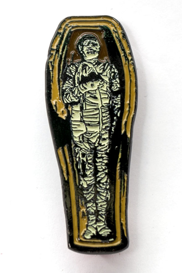 Rock Rebel Mummy Coffin Enamel Pin - Vampirefreaks Store