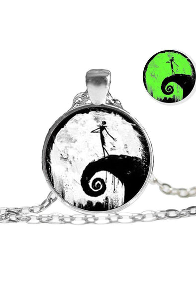 Nightmare Before Xmas Glow-in-the-dark Metal Pendant