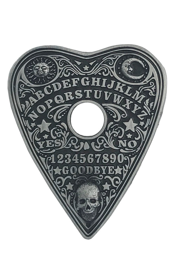 Ouija Planchette Metal Engraved Pin