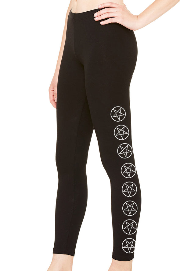 Destrukture Pentagram Leggings - Vampirefreaks Store