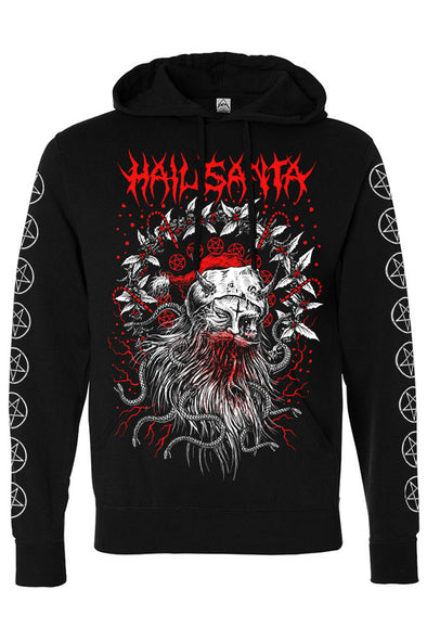 Hail Santa Christmas Hoodie (Zipper or Pullover)