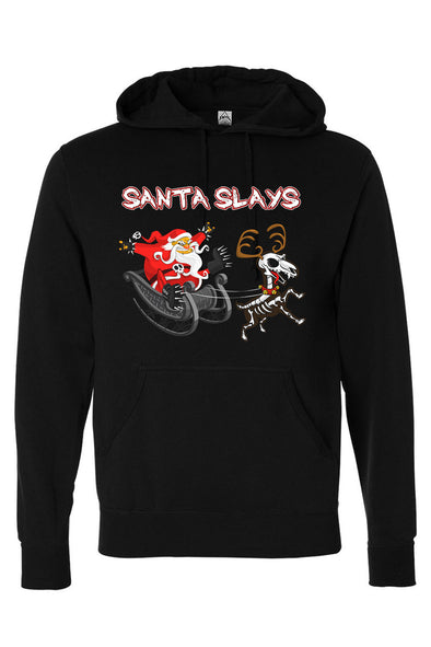 Santa Slays Hoodie [Zipper or Pullover]