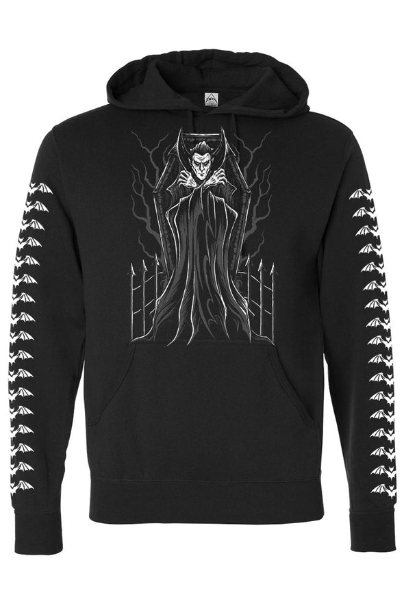 VampireFreaks Dracula in Coffin Pullover Hoodie w/ Bat Sleeves - Vampirefreaks Store