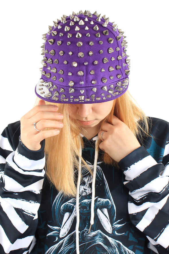 Full Spike Cap Hat [Purple]