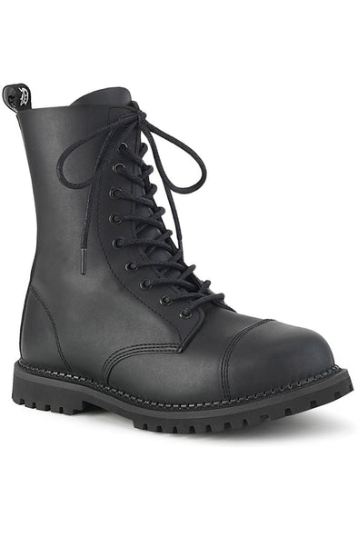 Start a RIOT-10 Boots [Black Vegan Leather]