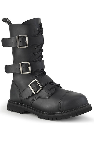 Lead the RIOT-12 Boots [Black Vegan Leather]