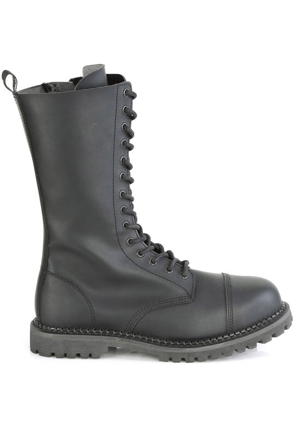 Start a RIOT-14 Boots [Black Vegan Leather]
