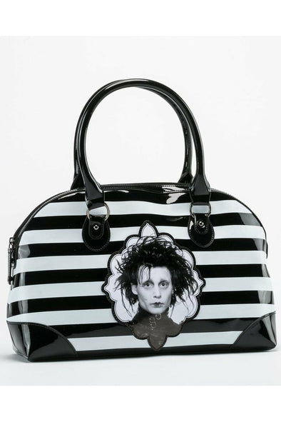 Edward Scissorhands Striped Handbag - Vampirefreaks Store