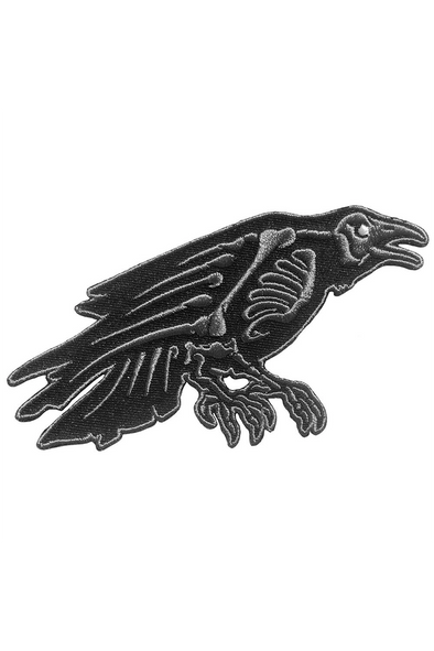 goth raven patch