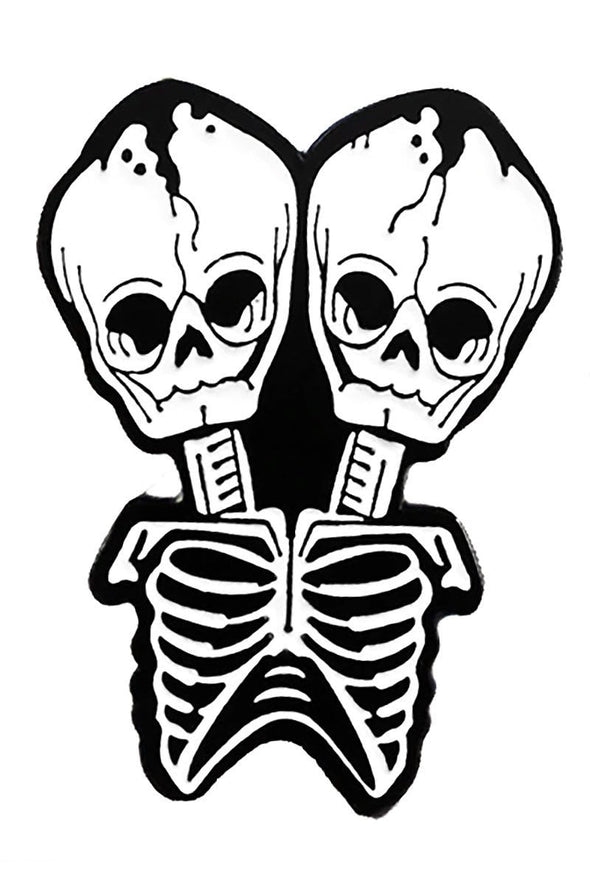 Two-headed Fetal Twins Skeleton Pin - Vampirefreaks Store