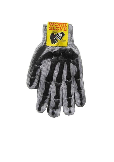 Skeleton Work Gloves - Grey