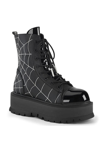Spiderweb SLACKER-88 Boots [Black Vegan Leather]