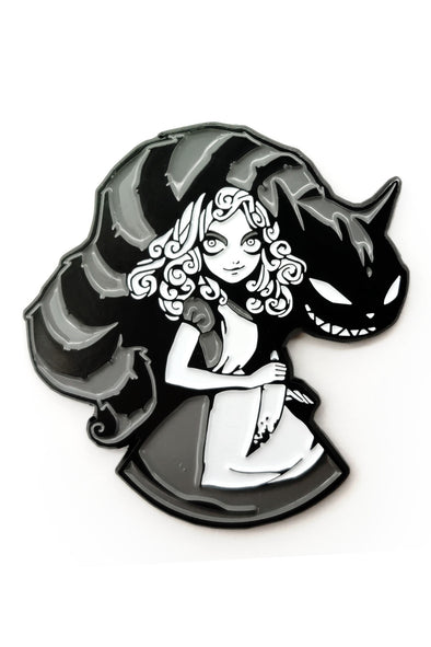 Alice in Slasherland Enamel Pin