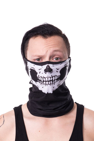 Skull Snood / Neck Gaiter Face Mask