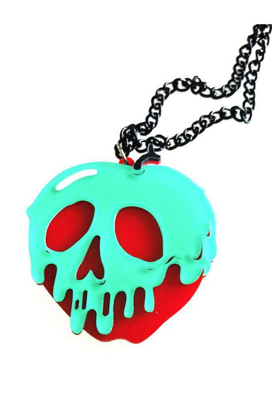 Snow White Poison Apple Necklace