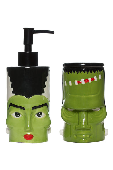 Sourpuss Monster and Bride Bathroom Set - Vampirefreaks Store