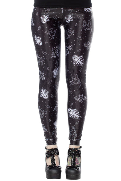 Sourpuss So Cute Its Spooky Leggings - Vampirefreaks Store