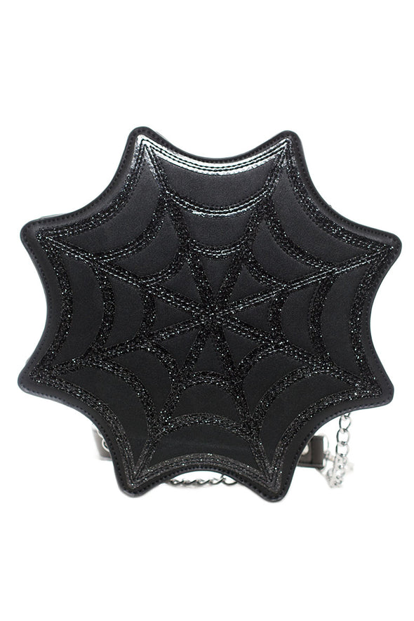 Sourpuss Spiderweb Sparkle Purse - Vampirefreaks Store