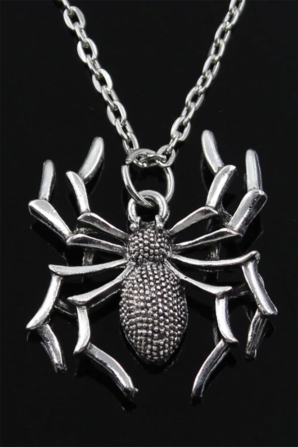 Black Widow Spider Necklace