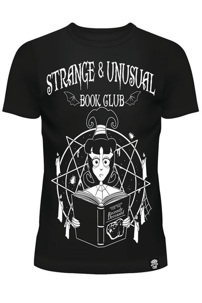 Strange & Unusual Book Club - Lydia Deetz Ladies T-shirt - Vampirefreaks Store