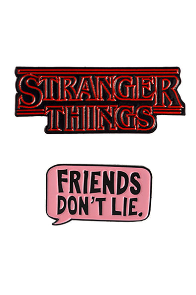 Stranger Things + Friends Dont Lie 2-Pin Set - Vampirefreaks Store