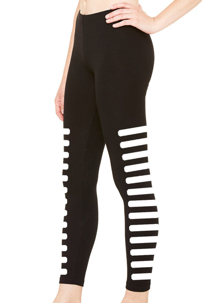 VampireFreaks Pavement Stripe Leggings - Vampirefreaks Store