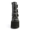 Demonia - SWING-103 - Black Vegan Leather - Women's Ankle Boots